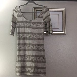 Gray stretchy dress